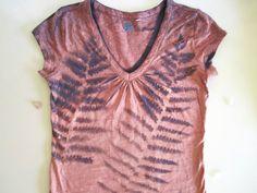 Pink Botanical Fern Shirt  Hippie Shirt  Eco by Michelebuttons, $32.00