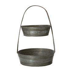 Terrain Tiered Tin Basket  #shopterrain