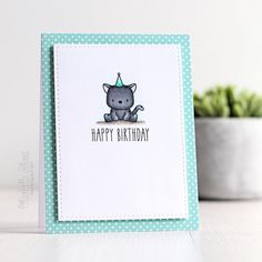 Over on my blog today ... turning the @heymamaelephant lunar tiger in to a cat! :) #cardmaking #mamaelephant