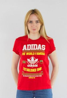 Vintage 90's Red Adidas Originals Top