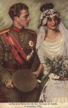 Crownprince Leopold of Belgium & Pss Astrid of Sweden. 1926