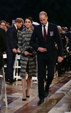 Catherine, Duchess of Cambridge and Prince William, Duke of Cambridge attend the Somme Centenary commemorations at the Thiepval Memorial on June 30, 2016 in Albert, France.