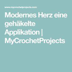 Modernes Herz eine gehäkelte Applikation | MyCrochetProjects