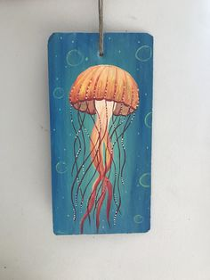 Jellyfish Art | Etsy Jellyfish Drawing, Watercolor Jellyfish, Jellyfish Painting, Watercolor Art, Jellyfish Tattoo, Jellyfish Quotes, Jellyfish Sting, Jellyfish Aquarium, Jellyfish Light