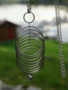 Tone Vigeland Rare Vintage Norwegian Jewelry Sterling Silver Modernist Necklace