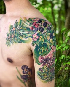 "5,071 Likes, 40 Comments - Adrian Bascur (@adrianbascur) on Instagram: ""Hierb plant AB #tattoo #tatuaje #ab #plantas #verde #green #colors #plant #aquarelle #watercolor…"""
