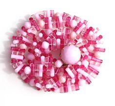 Vintage West Germany Pink Plastic Multi by LoriLakeTreasures, $18.00