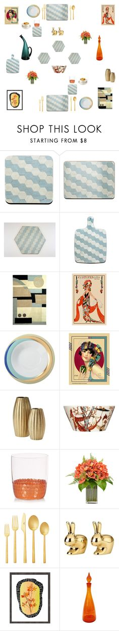 """Place Mats and Coasters Duck egg blue"" by einder ❤ liked on Polyvore featuring interior, interiors, interior design, home, home decor, interior decorating, Safavieh, Fürstenberg, iittala and Frontgate"