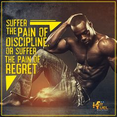 #MFFMotivation Suffer the pain or suffer the pain of regret! — with Darshan L Reddy Usher.