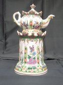 Tisanière en porcelaine de Bayeux XIXe