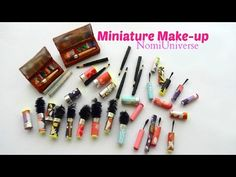 Tutorial : how to make a miniature mascara + eyeliner + eye shadow + eye pencil for dolls  - YouTube
