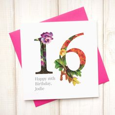 60th birthday card birthday card for her floral birthday card 16th birthday card birthday card for her floral birthday card botanical greetings card bookmarktalkfo Image collections