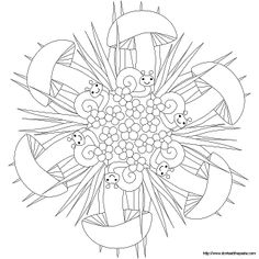 Don't Eat the Paste: Snail mandala and coloring page
