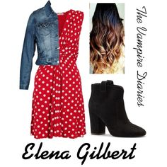 """Elena Gilbert"" by milky-silvers on Polyvore"