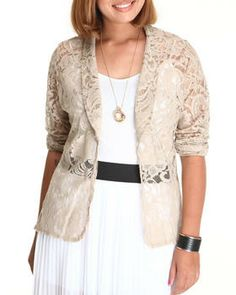 Buy Crown Floral Crochet Blazer Women's Outerwear from Fashion Lab. Find Fashion Lab fashions & more at DrJays.com