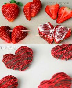 Hacer fresas con forma de corazón de chocolate. Estas fresas con forma de corazón de chocolate son perfectas para compartir con la gente que amas corazón