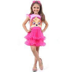 f0e65ee84c Fantasia Infantil Luxo - Patrulha Canina - Skye - Faces - Sulamericana - Ri  Happy Brinquedos