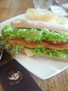 Three Hands Coffee - Smoked Salmon Sandwich