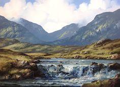Erriff River by Eileen Meagher Watercolor Landscape Paintings, Seascape Paintings, Online Gallery, Art Gallery, Irish Art, Connemara, Northern Ireland, Sculptures, Fine Art