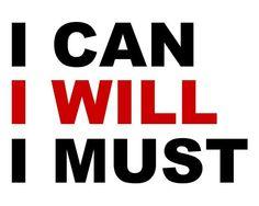 I can, I will, I must - plakat motywacyjny 50x40