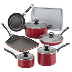 Farberware High Performance Nonstick 17 Piece Cookware Set & Reviews | Wayfair