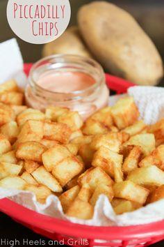 Sanpete county's best kept secret - Piccadilly Chips! #recipe #side http://www.highheelsandgrills.com/2013/07/piccadilly-chips.html