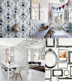 Wallpaper designs by Lisa Bengtsson by lizstan for Julep