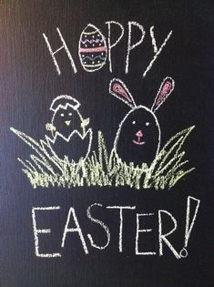 Magnetic chalkboard door for Easter