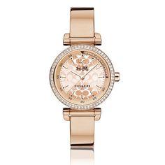 COACH 1941 Sport Rose Gold Bangle Bracelet Watch 30mm 14502543