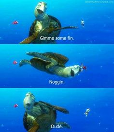 Finding Nemo! watch this almost every day with my kids at the daycare and it never gets old