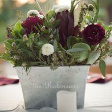 casual centerpiece like the tin planter