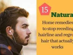 Are you noticing that your forehead is getting bigger? Is receding hairline at temples making you look older? Here's your answer for how to stop receding hairline and regrow hair naturally with home remedies. Nose Piercing Care, Piercings, Keloid Piercing, Piercing Aftercare, Hair Loss Remedies, Home Remedies, Natural Remedies, Receeding Hairline, Natural Facial Hair Removal