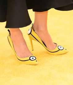 Minion heels Front view of heels (Getty)