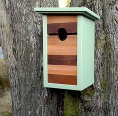 Modern Craftsman Birdhouse, Mind the Gap by Twig & Timber modern birdhouses