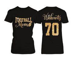 Personalized Football Mom T-shirt