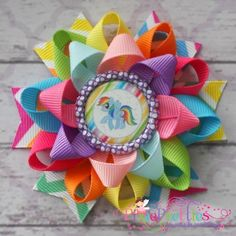 rainbow dash hair bow - Google Search