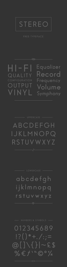 Stereo - Free Typeface