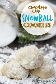 Chocolate Chip Snowball Cookies