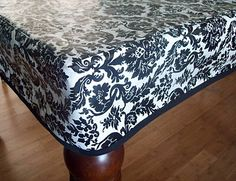 Vinyl Tablecloth Tutorial. Also Made A Thin Clear Vinyl Tablecloth Puts  Regular Tablecloth On And