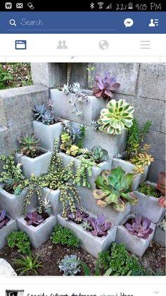 Cinder block planter