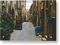 History Looking At Future Acrylic Print by Cesare Bargiggia