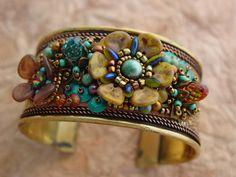 Fiore Bracciale Bracciale in oro KIT turchese