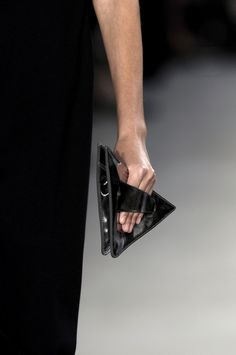 Mini triangle clutch purse, geometric fashion details // Jil Sander Spring 2007