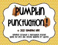 Unscramble the fall-themed sentence and finish it off with the correct punctuation.  FREE and fun!