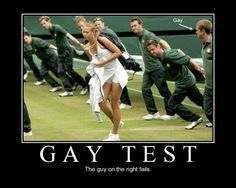 Gay test fails