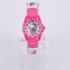 Hot Sale Hello Kitty Kids Watches Children's Watches Gril Lovely Cartoon Watch Baby Leather Watch Clock Gift saat montre enfant