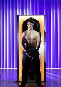 Matt Smith shirtless.  who would have thought that body was under the geek disguise