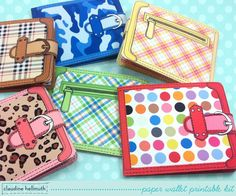 paper wallets gift card money holder with por claudinehellmuth