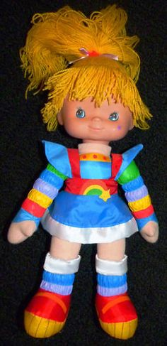 rainbow brite-I was her for halloween one year and this doll was my constant companion for a few years :)