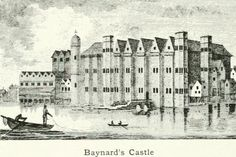 Baynard's Castle on the banks of the Thames before the Great Fire of London Permalien de l'image intégrée